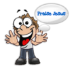 Praising Jesus cartoon