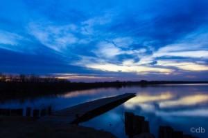 lake clouds night